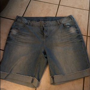 Lane Bryant cuffed jean shorts